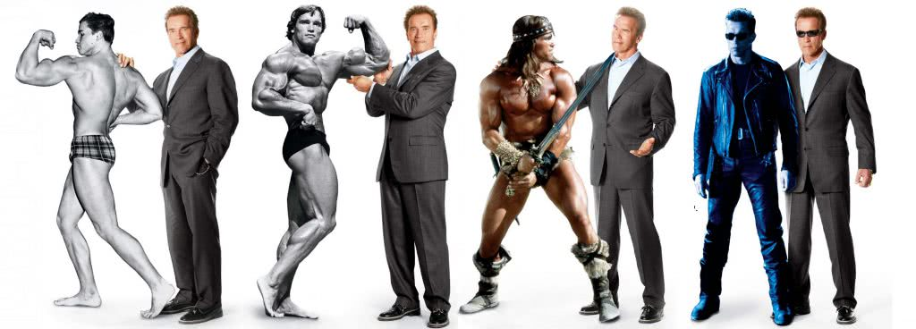Evolutie Arnold Schwarzenegger