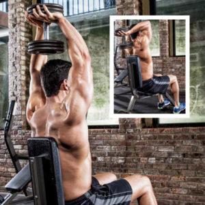 Extensii de la ceafă cu gantera, pentru triceps