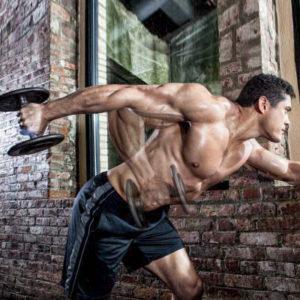 Extensii spre înapoi pentru triceps, din aplecat